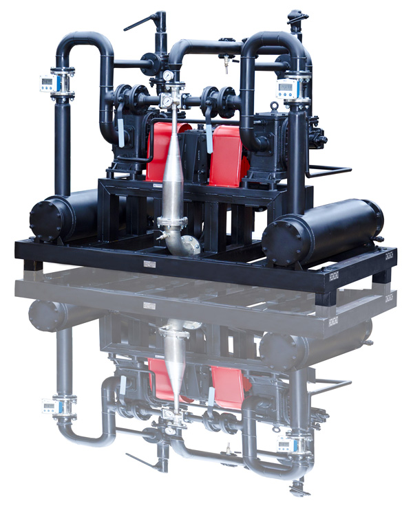 Low-viscous, viscous and high-viscous fuel low-viscous residual oil blending system USB-60/2
