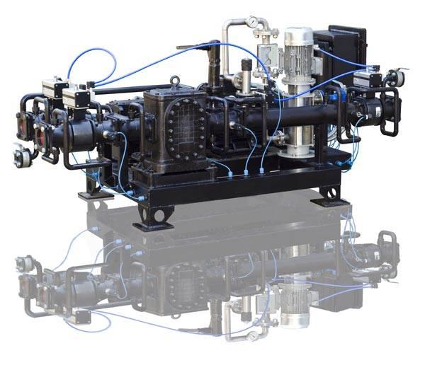 Low-viscous, viscous and high-viscous fuel, low-viscous residual oil blending system USB-12/3
